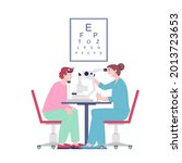 ophthalmologist doctor... | Shutterstock .eps vector #2013723653