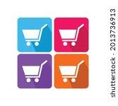 vector set of shopping cart...