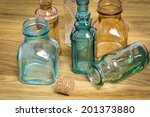 collection of empty vintage... | Shutterstock . vector #201373880