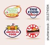 international food banner | Shutterstock .eps vector #201374504