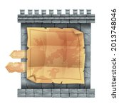 ancient stone castle wall game... | Shutterstock .eps vector #2013748046