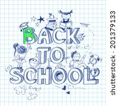 funny back to school sketch... | Shutterstock .eps vector #201379133