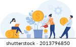 young investors working for... | Shutterstock .eps vector #2013796850
