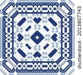 ornamental azulejo portugal... | Shutterstock .eps vector #2013807743