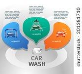 car wash design elements... | Shutterstock .eps vector #201381710