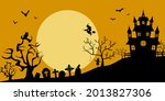 the silhouette of the old... | Shutterstock .eps vector #2013827306