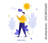 happy person walking and...   Shutterstock .eps vector #2013842660