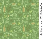 seamless pattern design with... | Shutterstock . vector #2013869666
