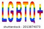 rainbow letters lgbtq. symbol...   Shutterstock .eps vector #2013874073