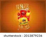 burger menu list design with... | Shutterstock . vector #2013879236