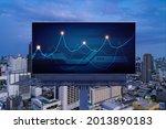 forex graph hologram on...