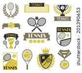 tennis banners  ribbons and... | Shutterstock .eps vector #201390653