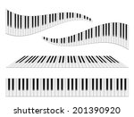 piano keyboards vector... | Shutterstock .eps vector #201390920