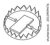 trap for animal vector icon... | Shutterstock .eps vector #2013909476