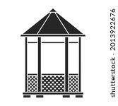 wooden gazebo of pergola vector ... | Shutterstock .eps vector #2013922676