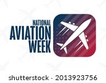 national aviation week. holiday ...   Shutterstock .eps vector #2013923756