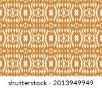 ikat border. geometric folk...   Shutterstock .eps vector #2013949949