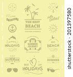 summer label for print design t ... | Shutterstock .eps vector #201397580