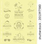 summer label for print design t ...   Shutterstock .eps vector #201397580
