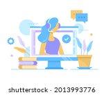 customer support. vector...   Shutterstock .eps vector #2013993776