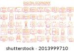 digital economy thin gradient...