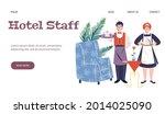 hotel staff web page mockup...   Shutterstock .eps vector #2014025090