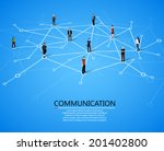 connecting people. social... | Shutterstock .eps vector #201402800