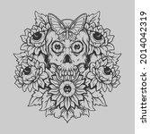 tattoo and t shirt design black ... | Shutterstock .eps vector #2014042319