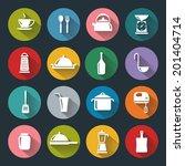 vector design kitchen flat... | Shutterstock .eps vector #201404714
