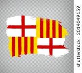 flag of barcelona brush strokes....