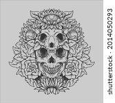 tattoo and t shirt design black ... | Shutterstock .eps vector #2014050293