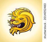 lion head profile logo  sport... | Shutterstock . vector #2014052483