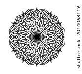 black mandala pattern art for... | Shutterstock .eps vector #2014068119