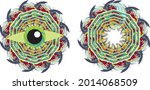 colorful eye splashes and frame ... | Shutterstock .eps vector #2014068509