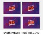 set of thank you followers...   Shutterstock .eps vector #2014069649