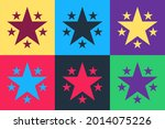 pop art star icon isolated on...