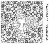 mehndi flower decorative... | Shutterstock .eps vector #2014089959