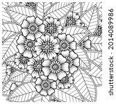 mehndi flower decorative... | Shutterstock .eps vector #2014089986