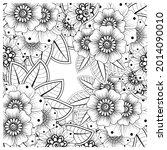 mehndi flower decorative... | Shutterstock .eps vector #2014090010