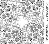 mehndi flower decorative... | Shutterstock .eps vector #2014090040