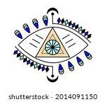 evil eye icon vector. colorful... | Shutterstock .eps vector #2014091150