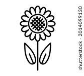 flower icon. decorative... | Shutterstock .eps vector #2014099130