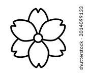flower icon. decorative... | Shutterstock .eps vector #2014099133