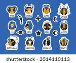 zodiac signs sticker pack. set...   Shutterstock .eps vector #2014110113