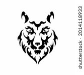 tribal wolf head logo. tattoo... | Shutterstock .eps vector #2014118933