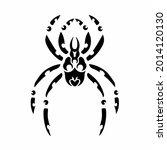 tribal spider head logo. tattoo ... | Shutterstock .eps vector #2014120130