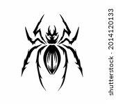 tribal spider head logo. tattoo ... | Shutterstock .eps vector #2014120133