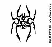 tribal spider head logo. tattoo ... | Shutterstock .eps vector #2014120136