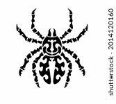 tribal spider head logo. tattoo ... | Shutterstock .eps vector #2014120160