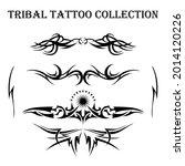 tribal tattoo design elements... | Shutterstock .eps vector #2014120226
